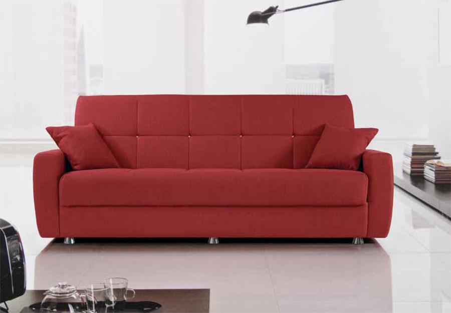 Divano letto 2 posti ecopelle contenitore salotto moderno soggiorno tessuto ebay - Divano contenitore 2 posti ...