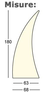 Scultura Horn Plust illuminabile dimensioni e misure
