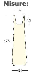 Vaso Roo Plust illuminabile dimensioni e misure