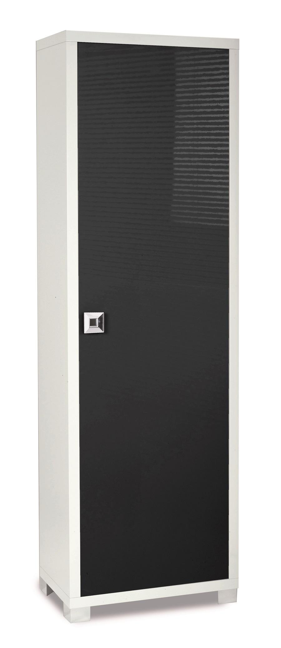 Mobile alto armadio design moderno camera legno lucido - Mobile alto bagno ...