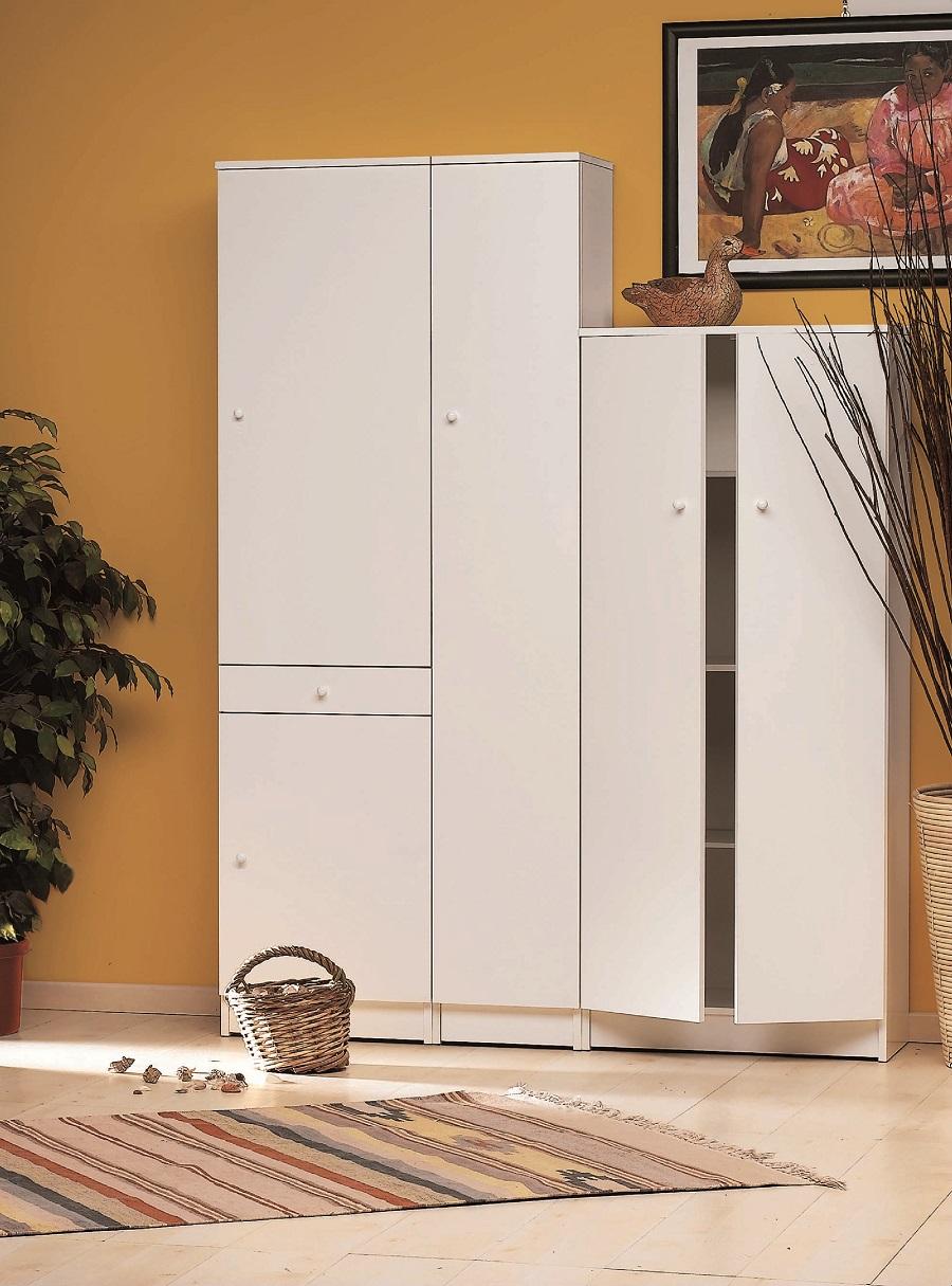 Modello modulo arredo alto con 2 ante 1 cassetto e 3 - Mobile alto bagno ...