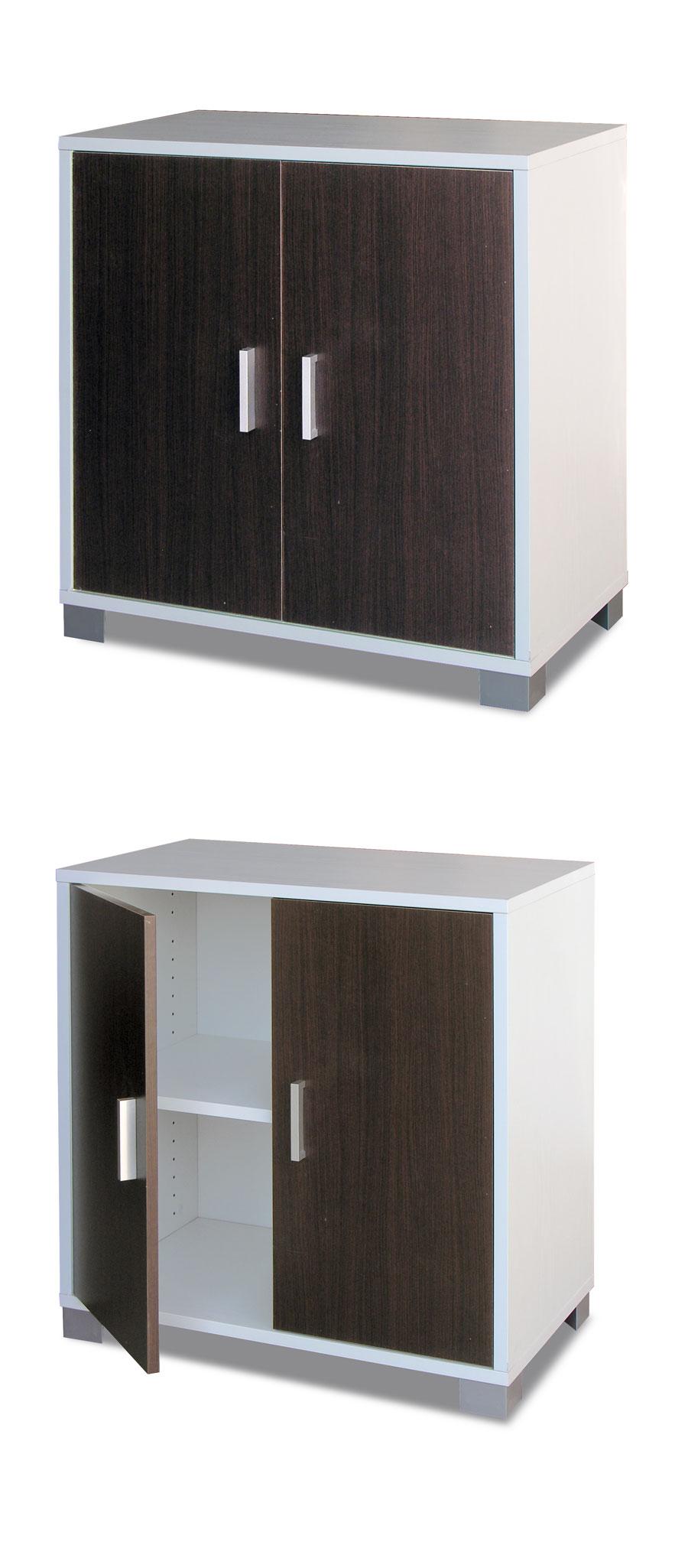 Mobile basso in legno design con 2 ante arredare moderno - Mobile basso moderno ...