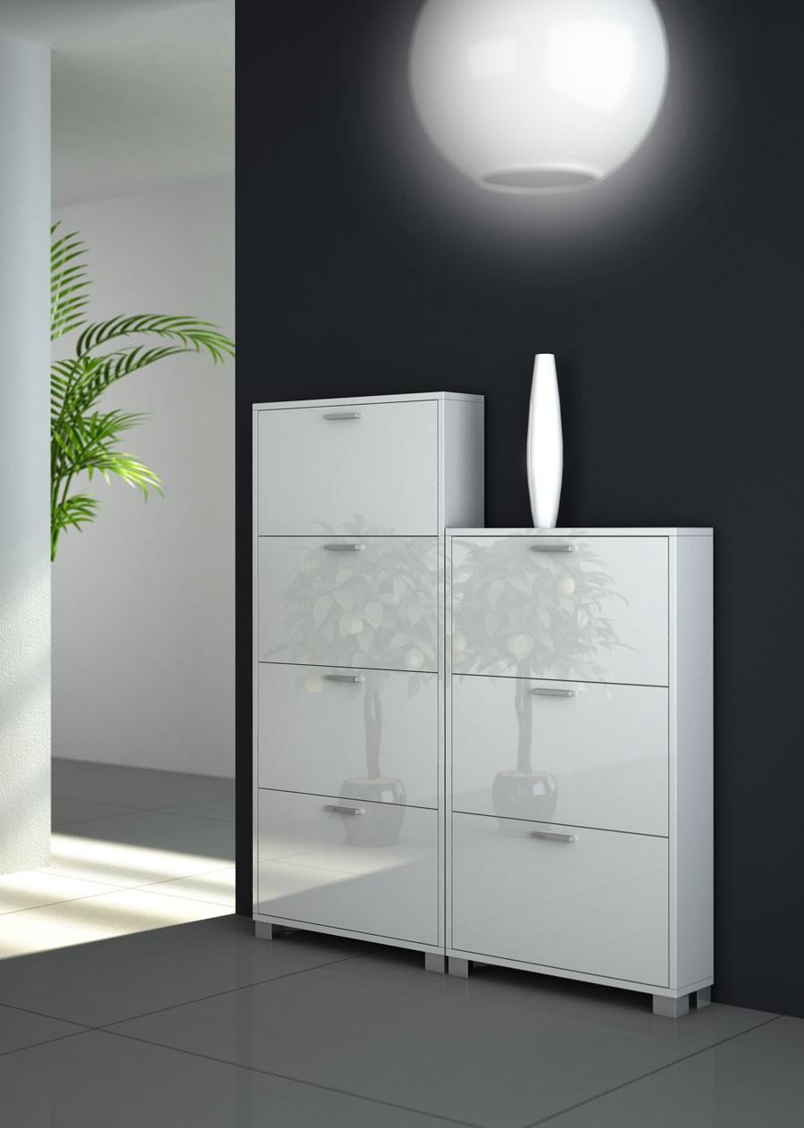 Casa moderna roma italy scarpiera in metallo bianca for Casa moderna bianca