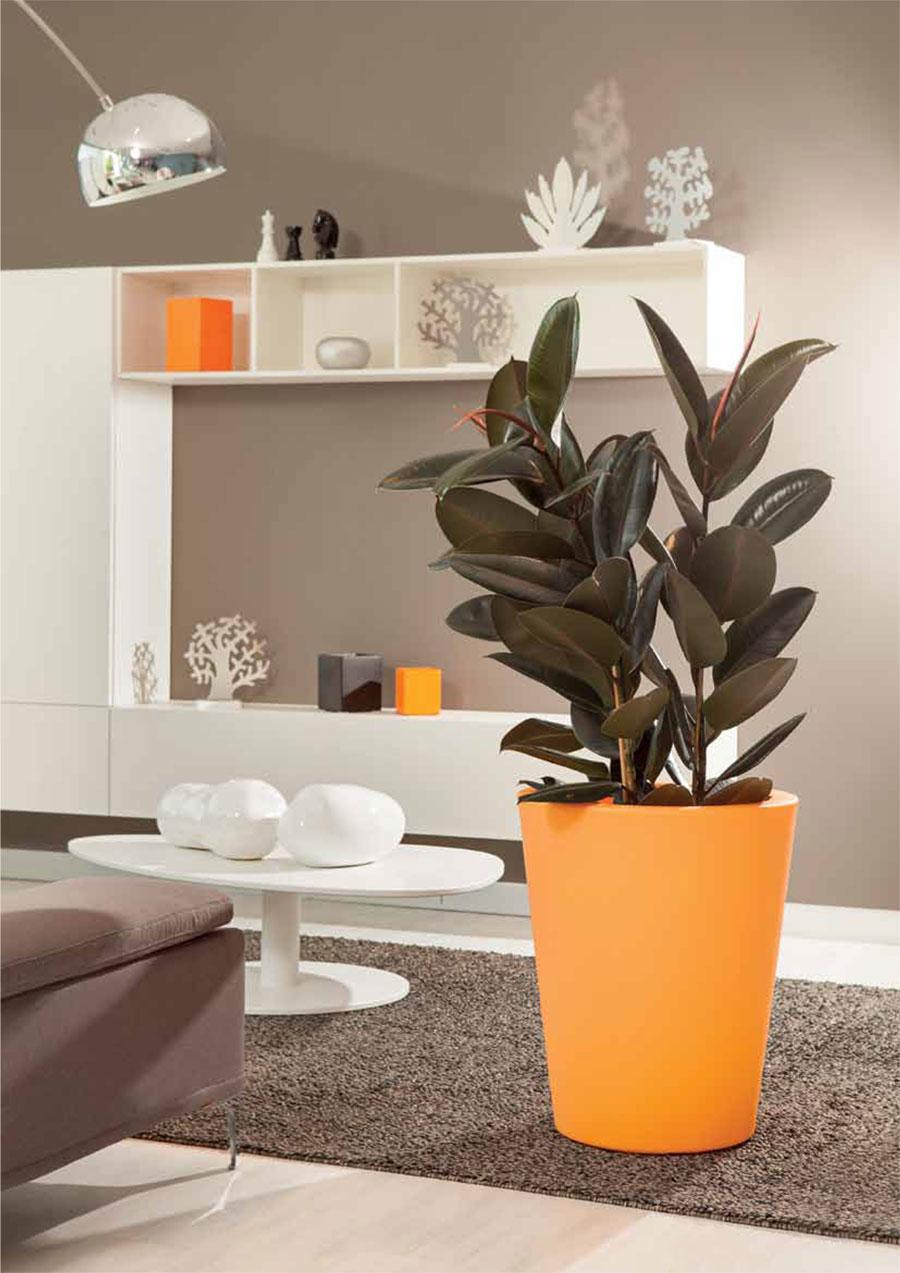 Vaso resina luminoso arredo giardino compl kit luce for Vasi da terra per interni moderni