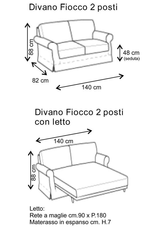 DIVANO LETTO 2 POSTI SALOTTO UFFICIO SOGGIORNO DESIGN ...