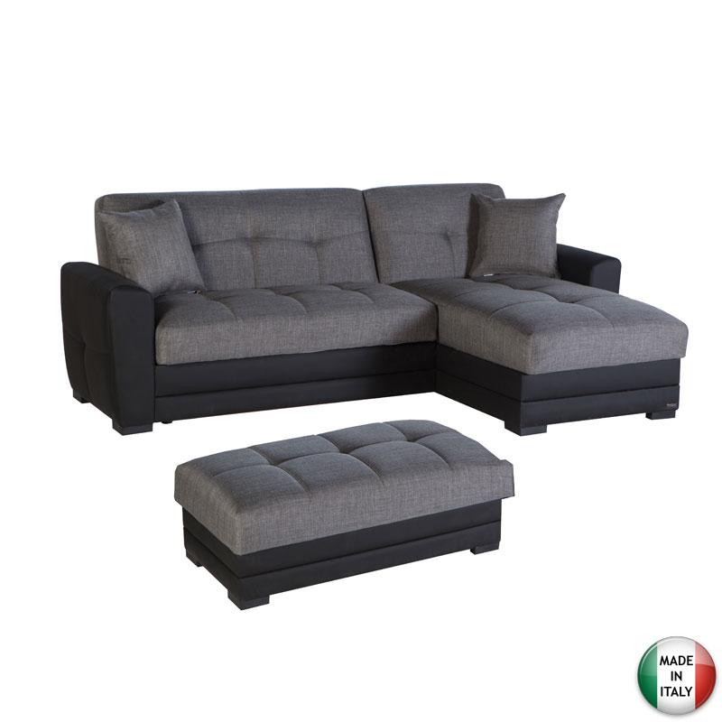 Divano letto 3 posti contenitore chaise longue salotto for Divano gratis