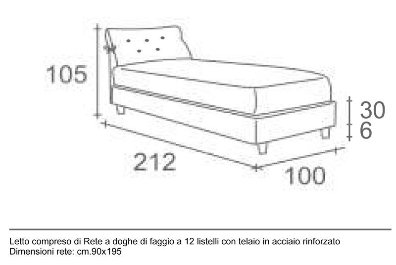 Letto singolo contenitore nicol tomasucci avellino - Misure lenzuola letto singolo ...