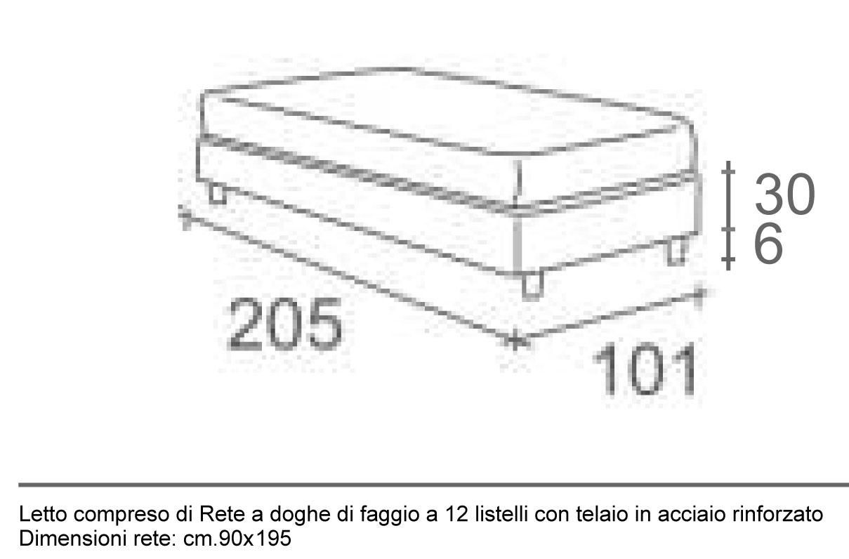 Misura standard letto singolo altezza armadi city line for Dimensioni letto singolo