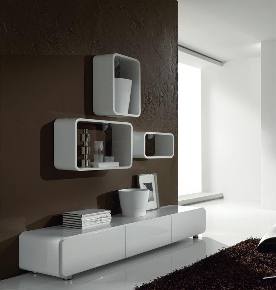 Mensola muro cubo design libreria porta cd salotto ufficio soggiorno moderno 1xcoq6gm mobili - Libreria salotto e soggiorno ...