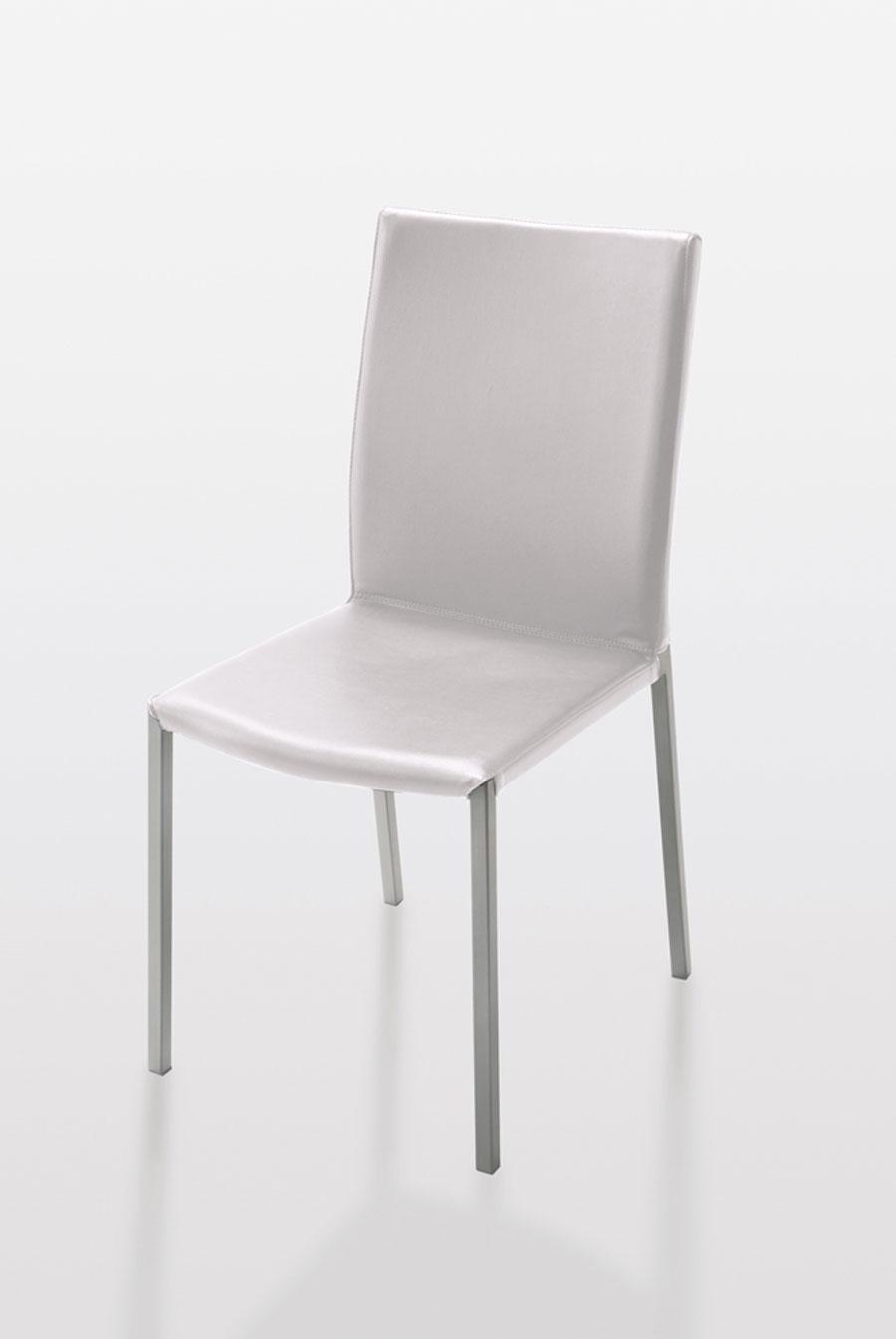 Excellent sedie design moderno ecopelle bianca cucina bar for Sedie da salotto moderne
