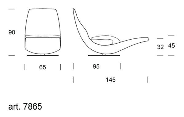 Ricciolo deckchair tonin casa arredare moderno for Dimension chaise longue