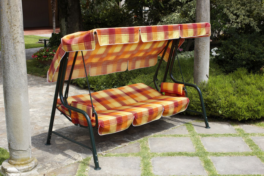 Dondolo giardino esterno 4 posti trasformabile letto for Letto giardino