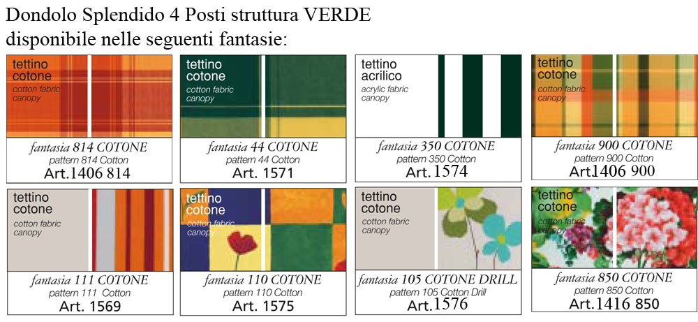 Cuscini per dondolo scab for Arredo service sas foggia