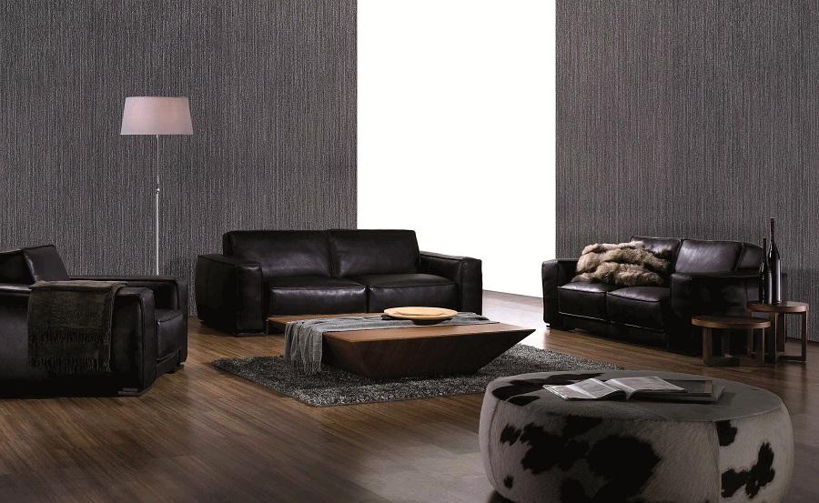 Divano nero pelle design moderno salotto soggiorno ufficio for Divano ufficio
