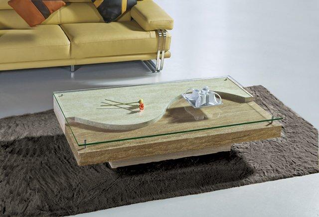 Latest Center Table Designs 2019: Linea Travertino-cristallo